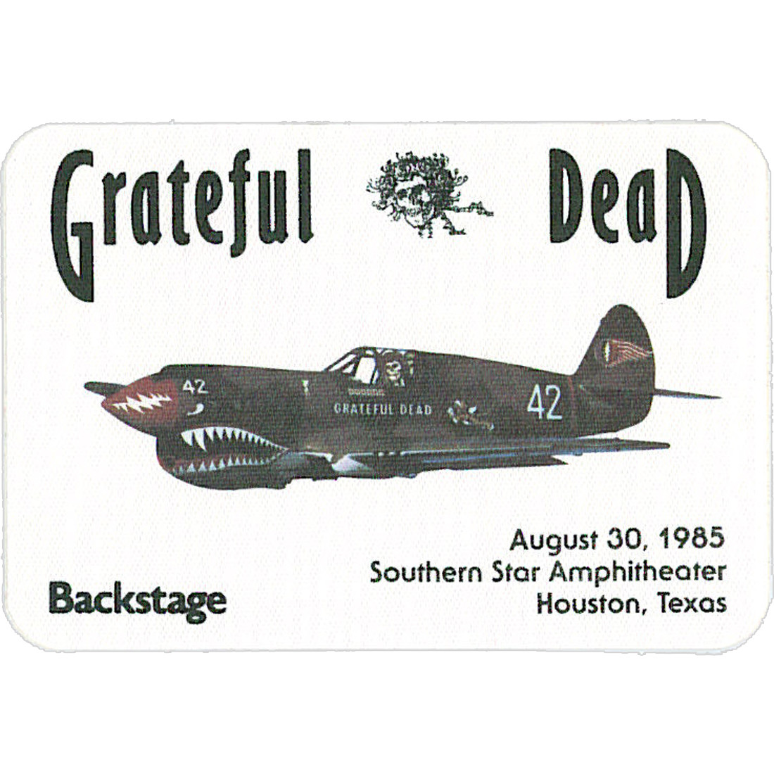 Grateful Dead 1985 08-30 Backstage Pass