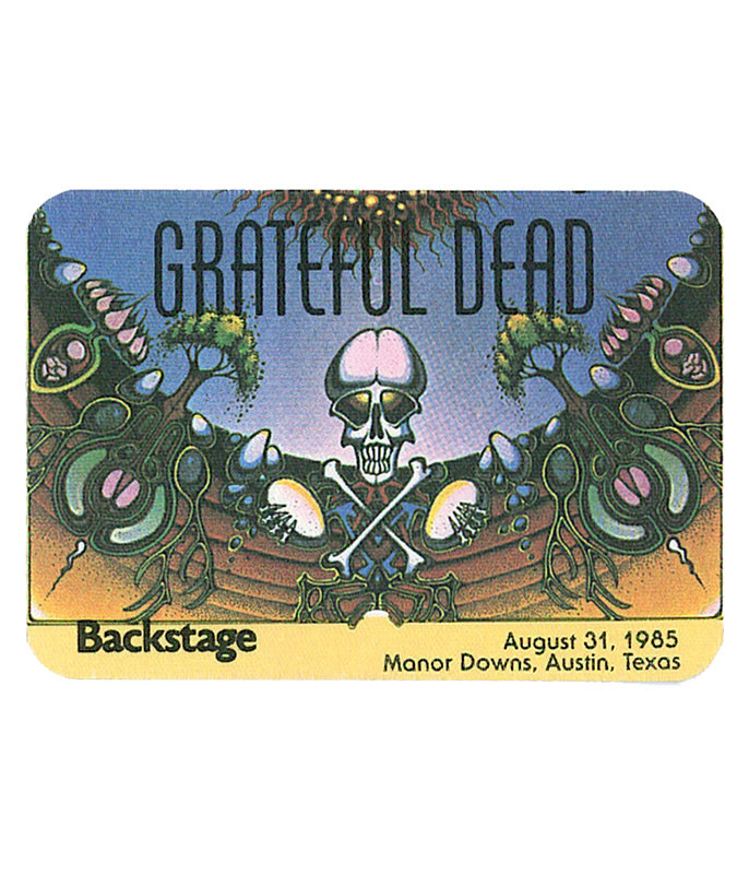 GRATEFUL DEAD 1985 08-31 BACKSTAGE PASS