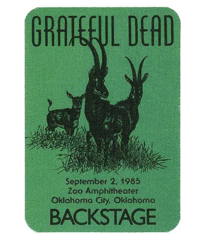 GRATEFUL DEAD 1985 09-02 BACKSTAGE PASS