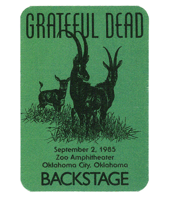 The Vault Grateful Dead 1985 09-02 Backstage Pass Liquid Blue