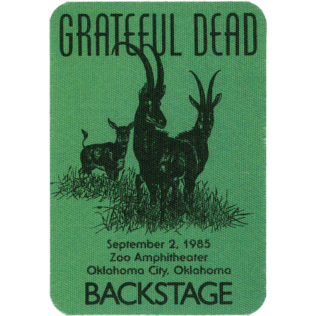 Grateful Dead 1985 09-02 Backstage Pass