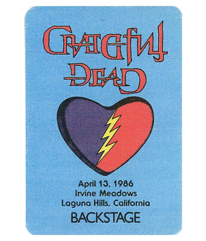 GRATEFUL DEAD 1986 04-13 BACKSTAGE PASS