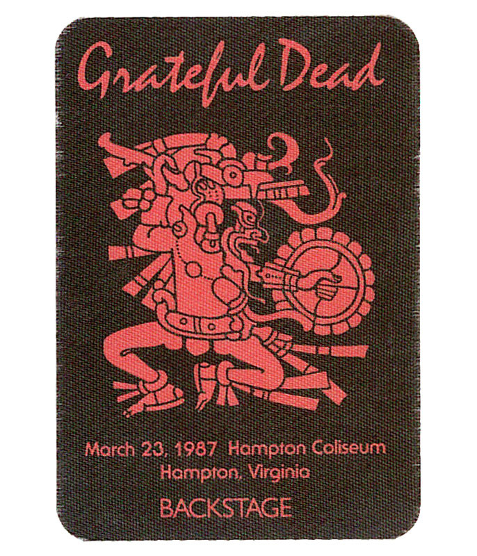 GRATEFUL DEAD 1987 03-23 BACKSTAGE PASS