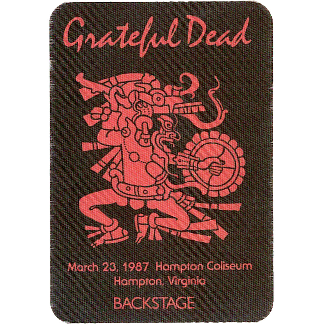 Grateful Dead 1987 03-23 Backstage Pass