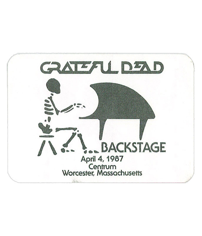 GRATEFUL DEAD 1987 04-04 BACKSTAGE PASS