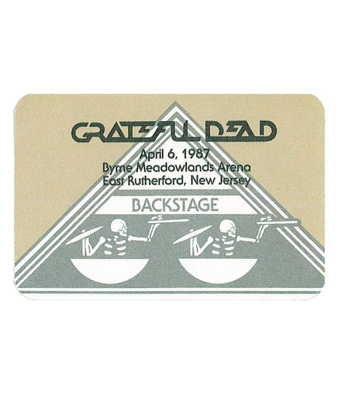 Grateful Dead 1987 04-06 Backstage Pass