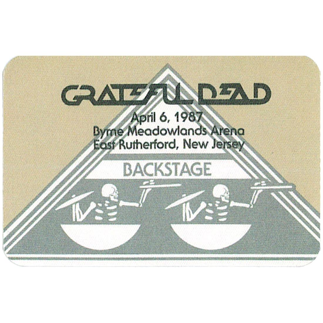 Grateful Dead 1987 04-06 Backstage Pass