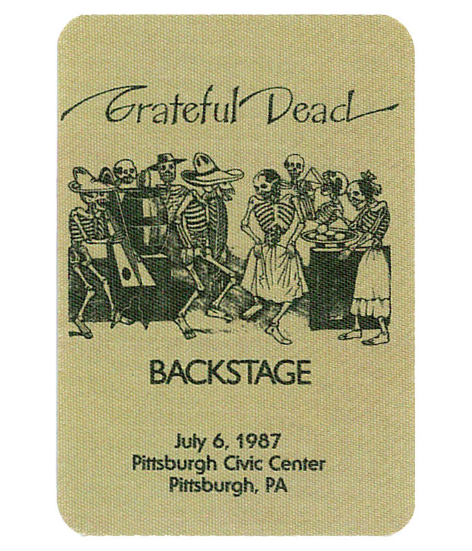 Grateful Dead 1987 07-06 Backstage Pass