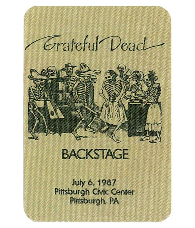 GRATEFUL DEAD 1987 07-06 BACKSTAGE PASS