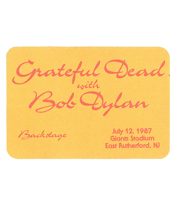GRATEFUL DEAD 1987 07-12 BACKSTAGE PASS
