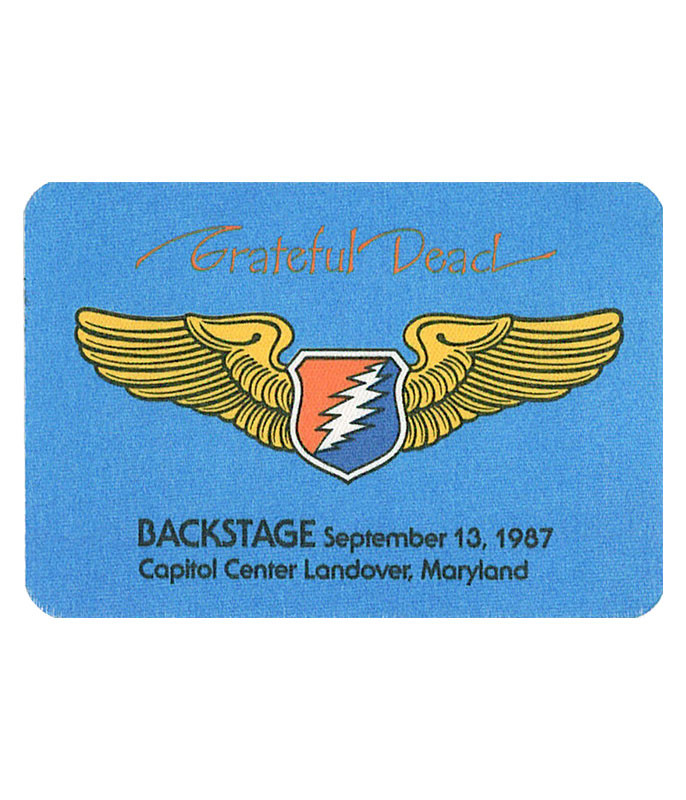 GRATEFUL DEAD 1987 09-13 BACKSTAGE PASS