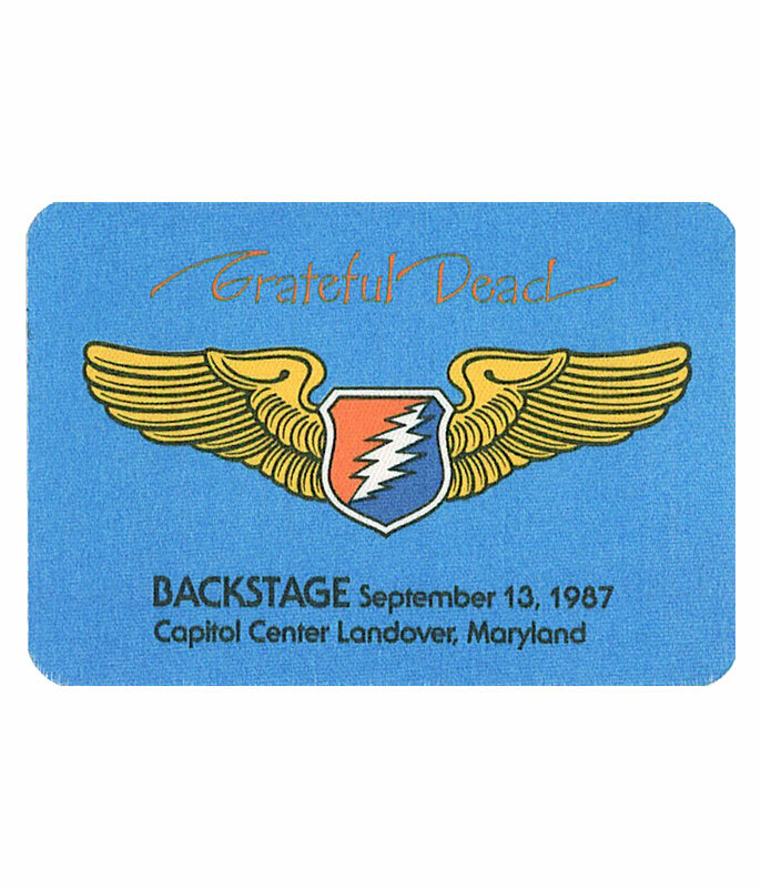 The Vault Grateful Dead 1987 09-13 Backstage Pass Liquid Blue