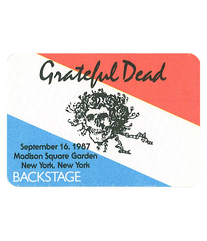 GRATEFUL DEAD 1987 09-16 BACKSTAGE PASS