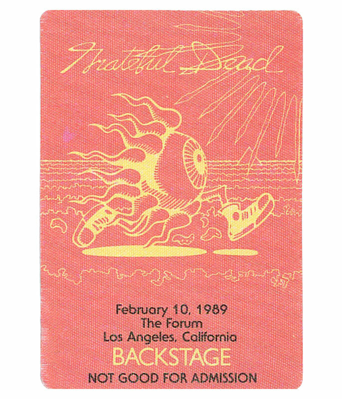 Grateful Dead 1989 02-10 Backstage Pass