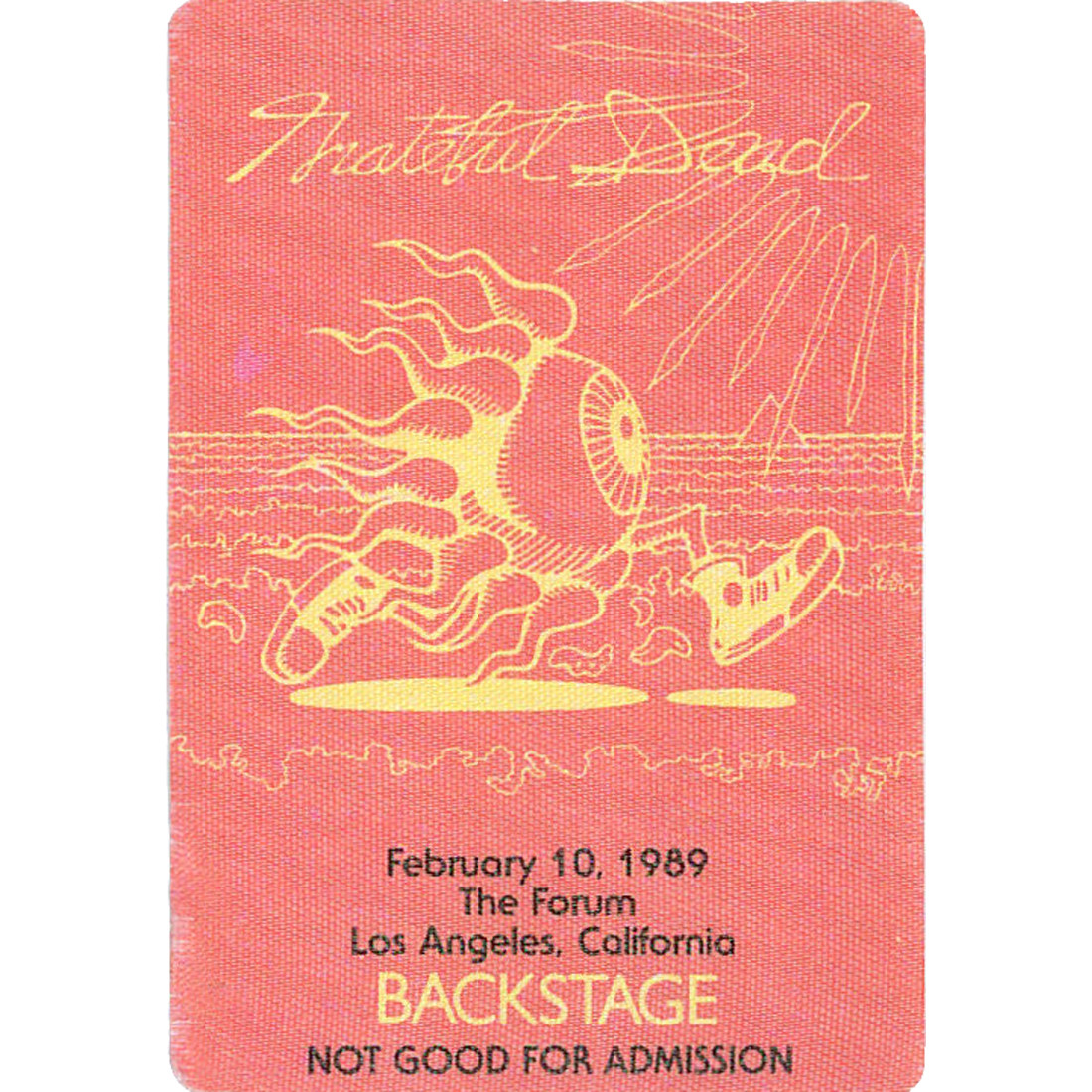 Grateful Dead 1989 02-10 Backstage Pass