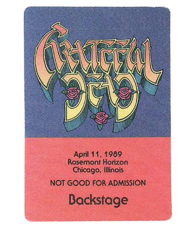 GRATEFUL DEAD 1989 04-11 BACKSTAGE PASS