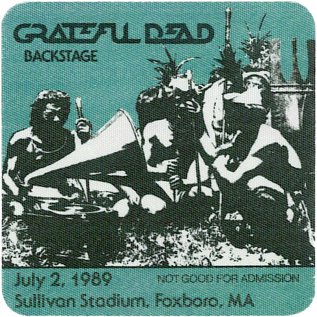 Grateful Dead 1989 07-02 Backstage Pass