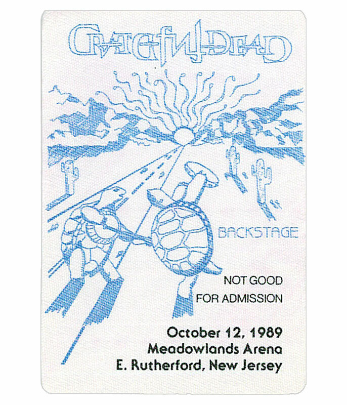The Vault Grateful Dead 1989 10-12 Backstage Pass Liquid Blue
