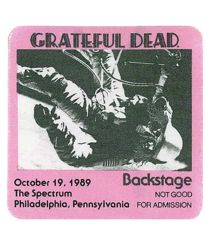 Grateful Dead 1989 10-19 Backstage Pass