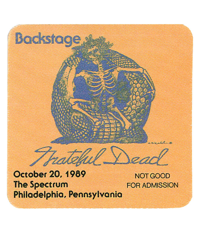 Grateful Dead 1989 10-20 Backstage Pass