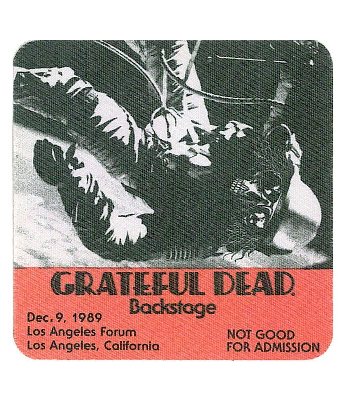 Grateful Dead 1989 12-09 Backstage Pass