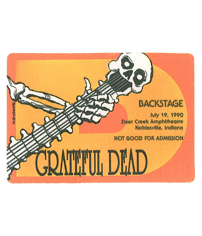 GRATEFUL DEAD 1990 07-19 BACKSTAGE PASS