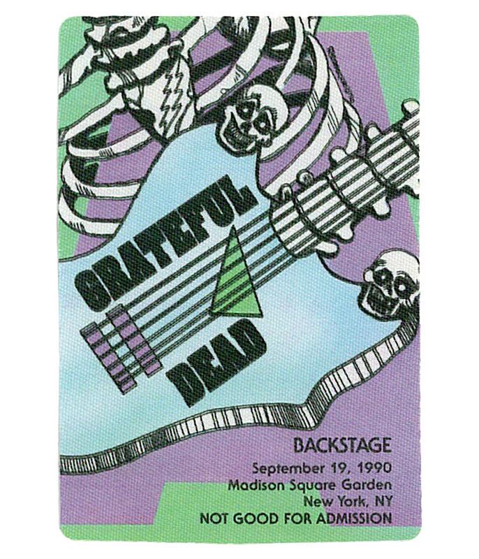 The Vault Grateful Dead 1990 09-19 Backstage Pass Liquid Blue