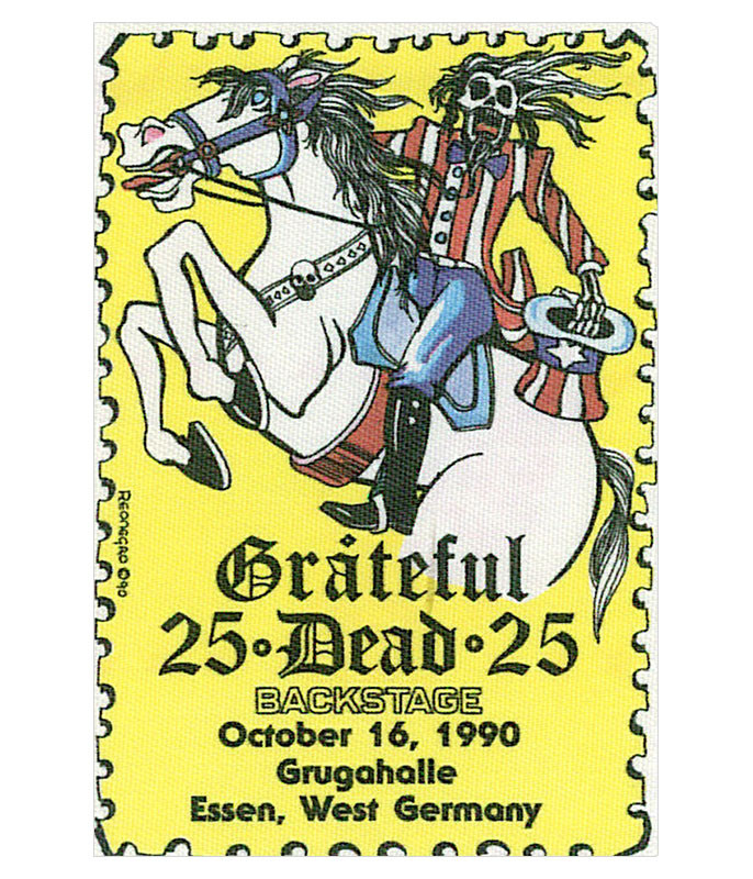 GRATEFUL DEAD 1990 10-16 BACKSTAGE PASS