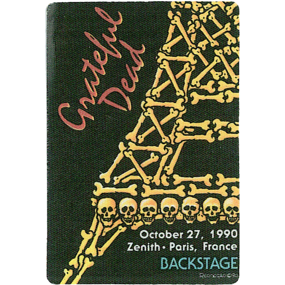 Grateful Dead 1990 10-27 Backstage Pass