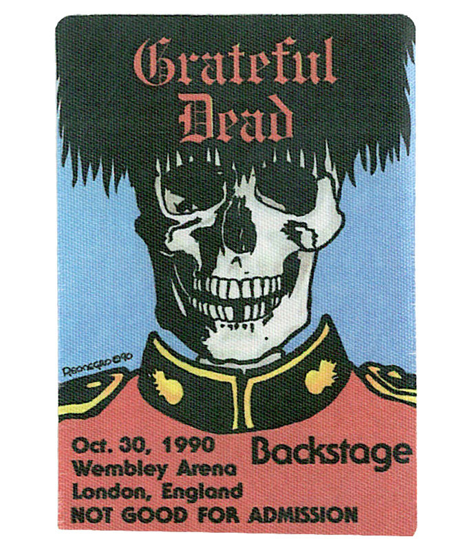 GRATEFUL DEAD 1990 10-30 BACKSTAGE PASS