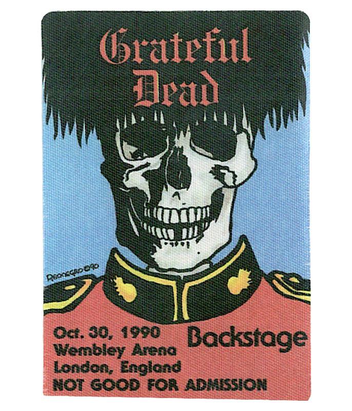 Grateful Dead 1990 10-30 Backstage Pass
