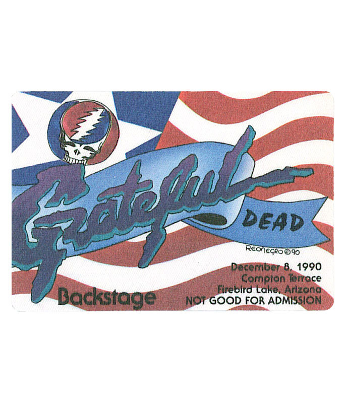 GRATEFUL DEAD 1990 12-08 BACKSTAGE PASS
