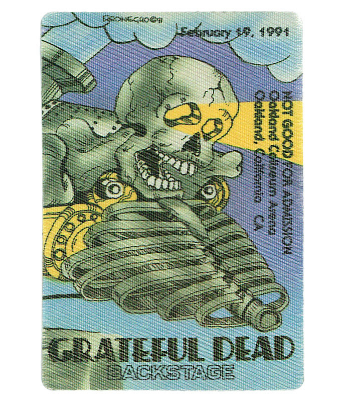 GRATEFUL DEAD 1991 02-19 BACKSTAGE PASS