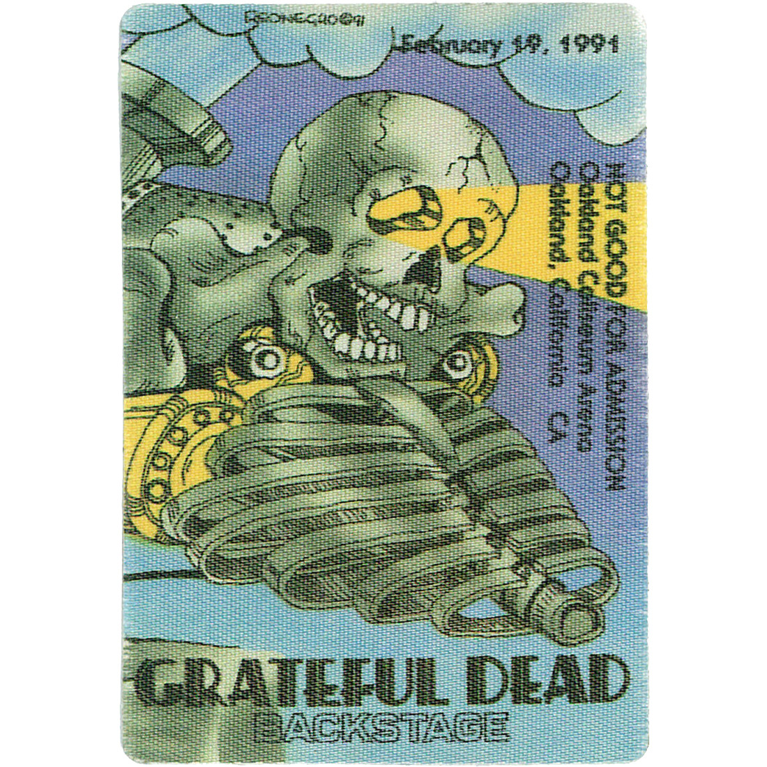 Grateful Dead 1991 02-19 Backstage Pass