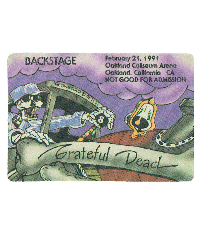 GRATEFUL DEAD 1991 02-21 BACKSTAGE PASS