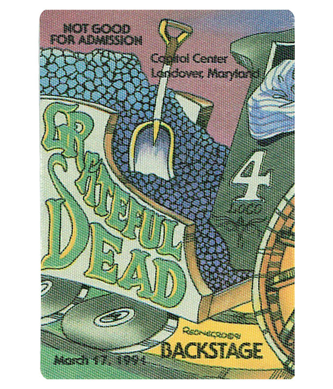 GRATEFUL DEAD 1991 03-17 BACKSTAGE PASS