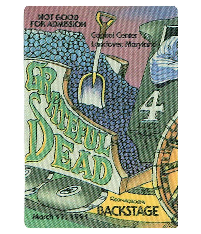 Grateful Dead 1991 03-17 Backstage Pass