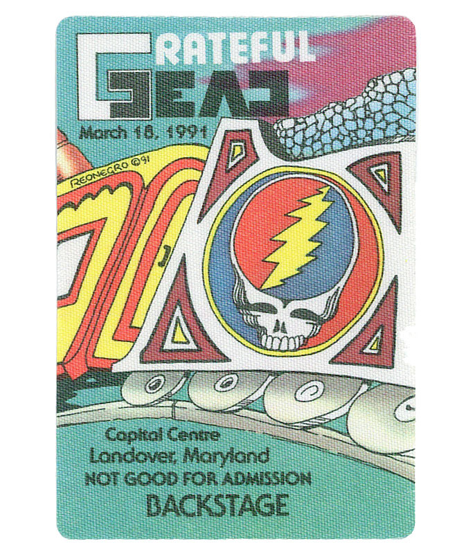 GRATEFUL DEAD 1991 03-18 BACKSTAGE PASS