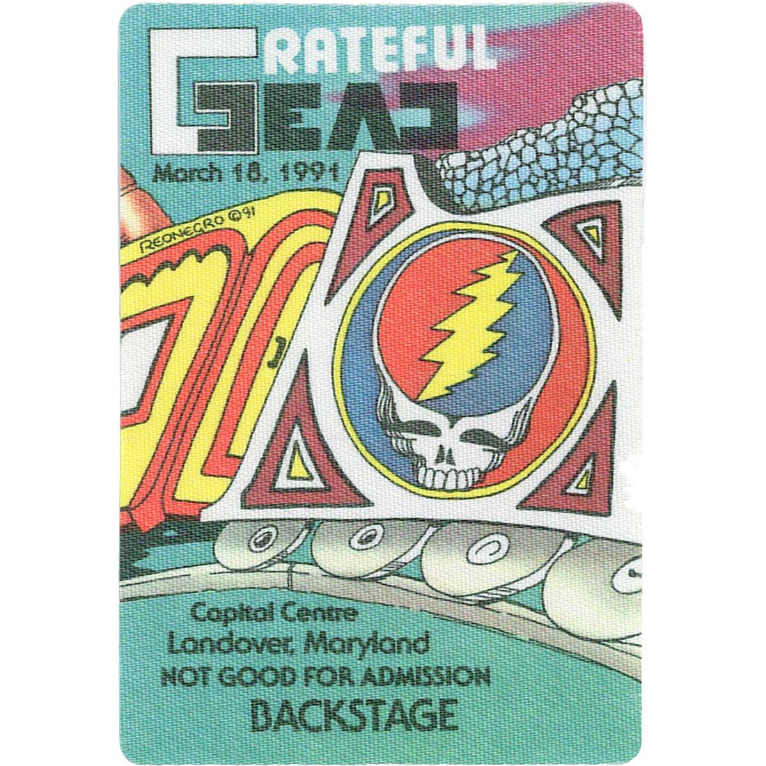 Grateful Dead 1991 03-18 Backstage Pass