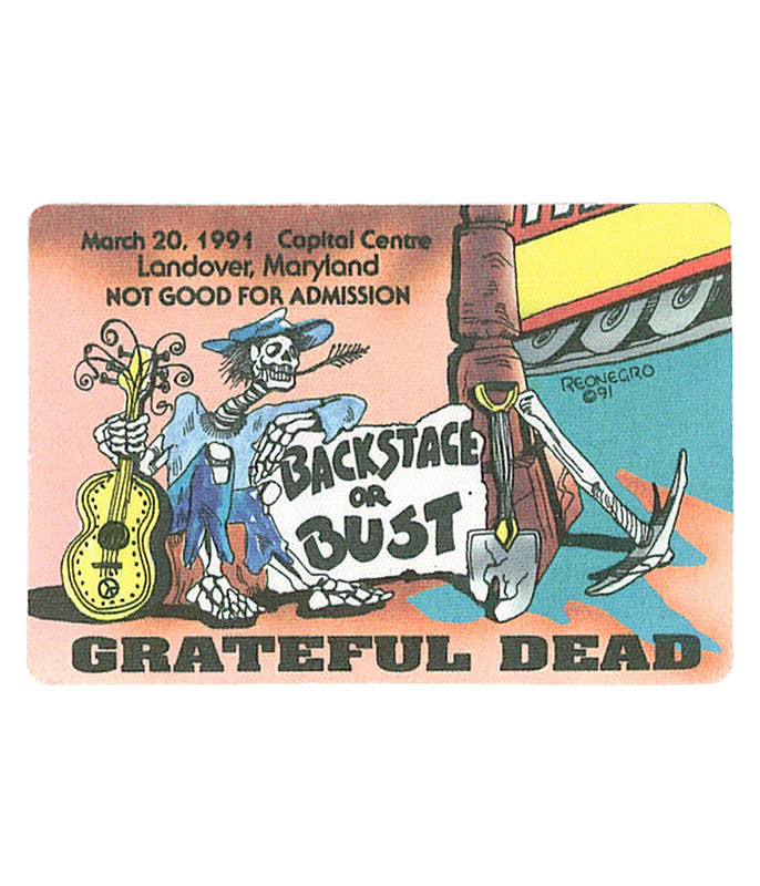 Grateful Dead 1991 03-20 Backstage Pass