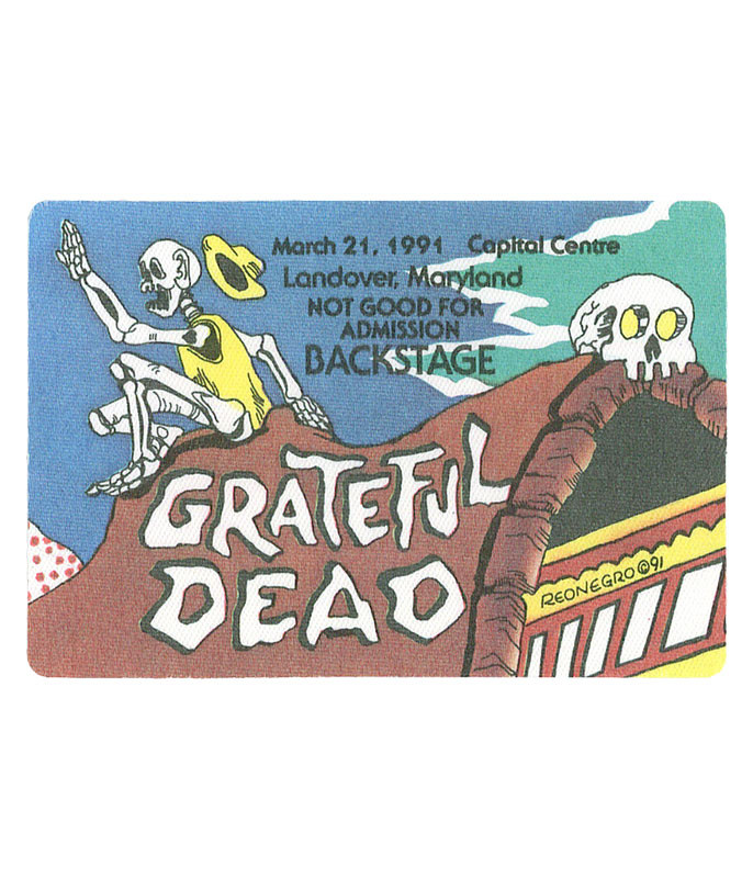GRATEFUL DEAD 1991 03-21 BACKSTAGE PASS