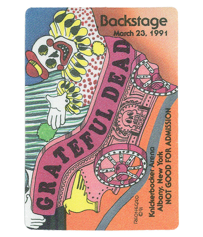 GRATEFUL DEAD 1991 03-23 BACKSTAGE PASS