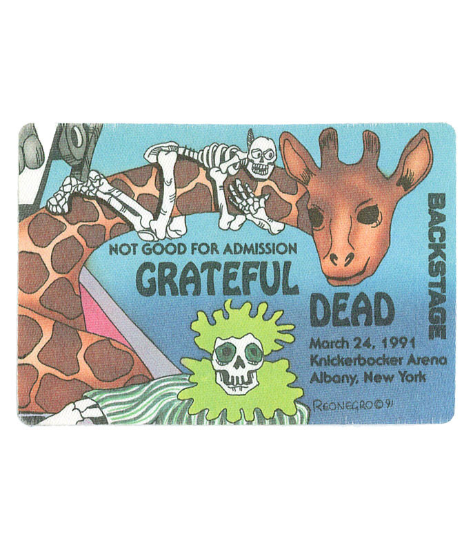 GRATEFUL DEAD 1991 03-24 BACKSTAGE PASS