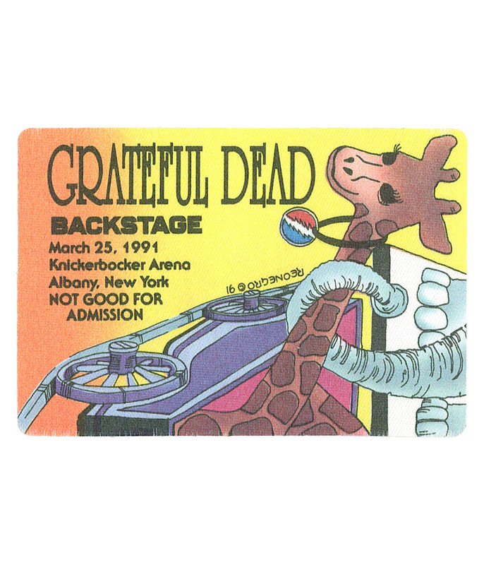 GRATEFUL DEAD 1991 03-25 BACKSTAGE PASS