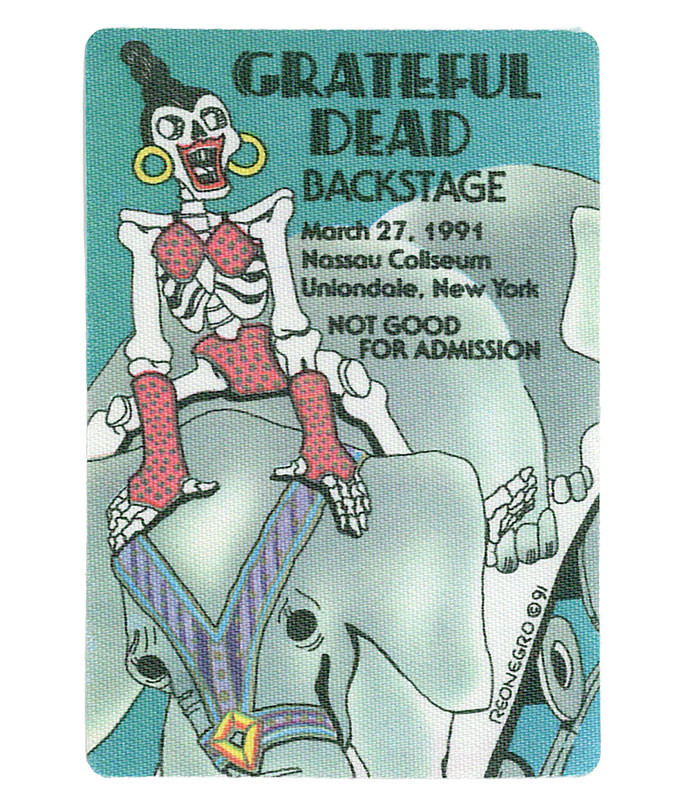 GRATEFUL DEAD 1991 03-27 BACKSTAGE PASS