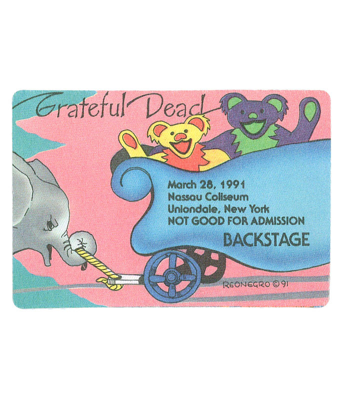 GRATEFUL DEAD 1991 03-28 BACKSTAGE PASS