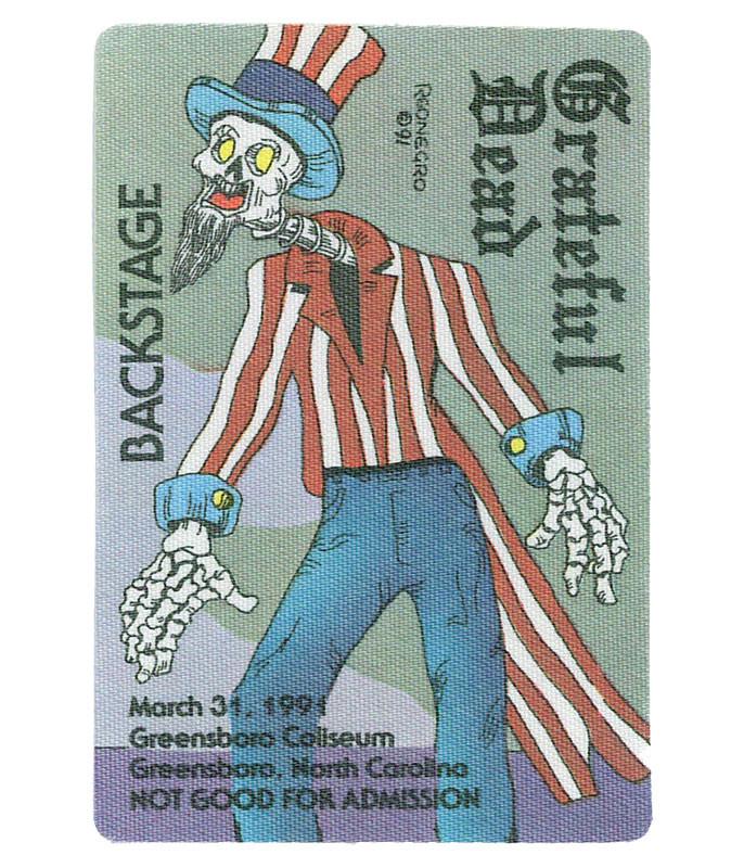 Grateful Dead 1991 03-31 Backstage Pass