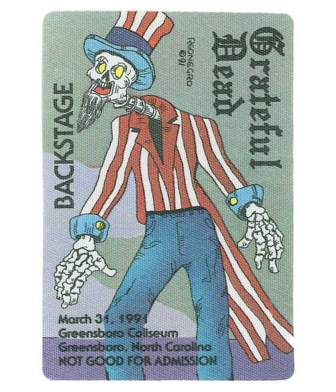 The Vault Grateful Dead 1991 03-31 Backstage Pass Liquid Blue