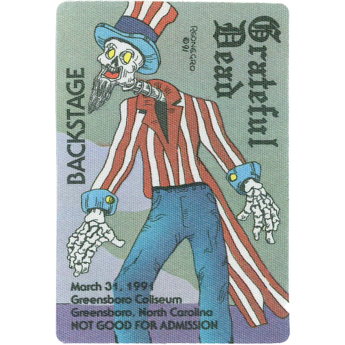 Grateful Dead 1991 03-31 Backstage Pass