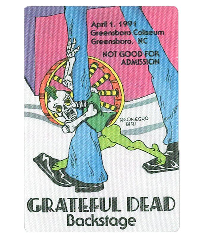 GRATEFUL DEAD 1991 04-01 BACKSTAGE PASS